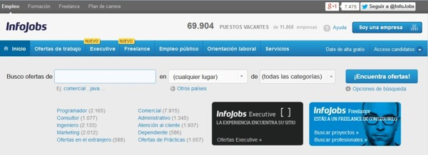 InfoJobs: Internet job search resources: job portals and specialized networks