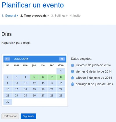 Doodle, to plan events in the simplest way